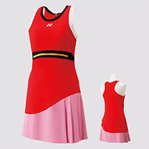 WOMEN'S DRESS WITH INNER SHORTS 20460 Fire Red